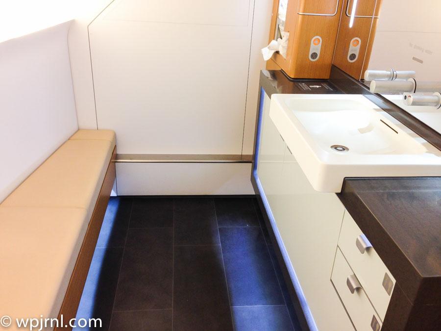 Lufthansa A380 Bathroom in First Class