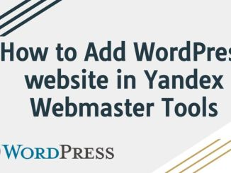 How to Add WordPress website in Yandex Webmaster Tools