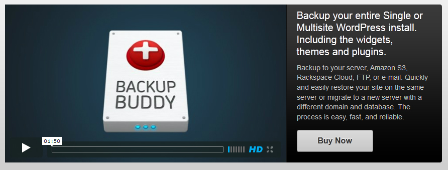 Backup Buddy Premium Backup solution for WordPress