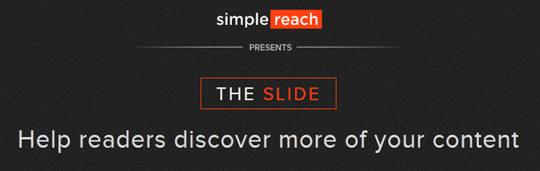 The Slide Simple Reach WordPress plugin