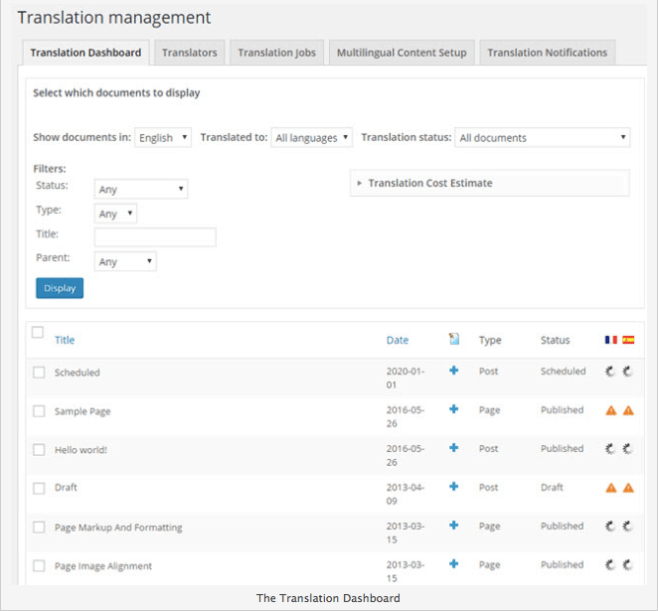 wpml-translation-management How to Build a Multilingual Site in WordPress