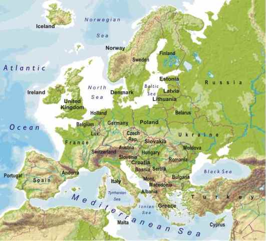 Europe territory on globe map     Stock Photo      michal812 4843070     World Map Europe And Asia