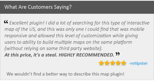 Customer feedback about the map plugin
