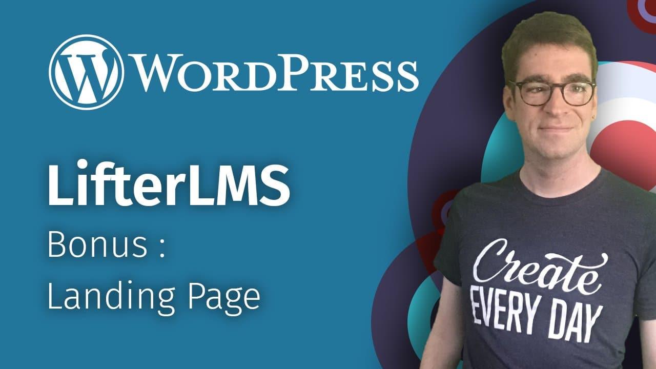 Bonus : Landing page avec Elementor et LifterLMS