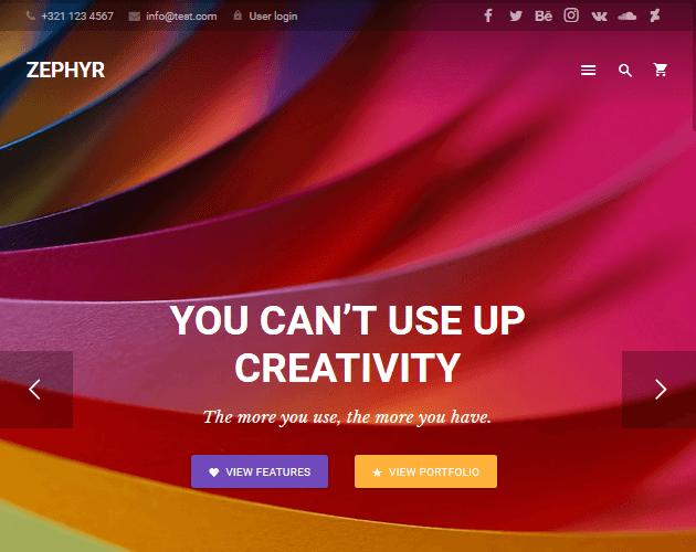 Zephyr - WordPress Animation Themes