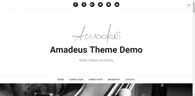 Amadeus Blogging Theme