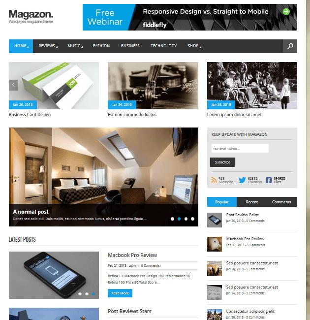 Magazon - Ad-Space WordPress Themes