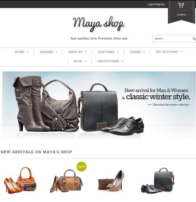 Maya Shop - eCommerce WordPress Themes