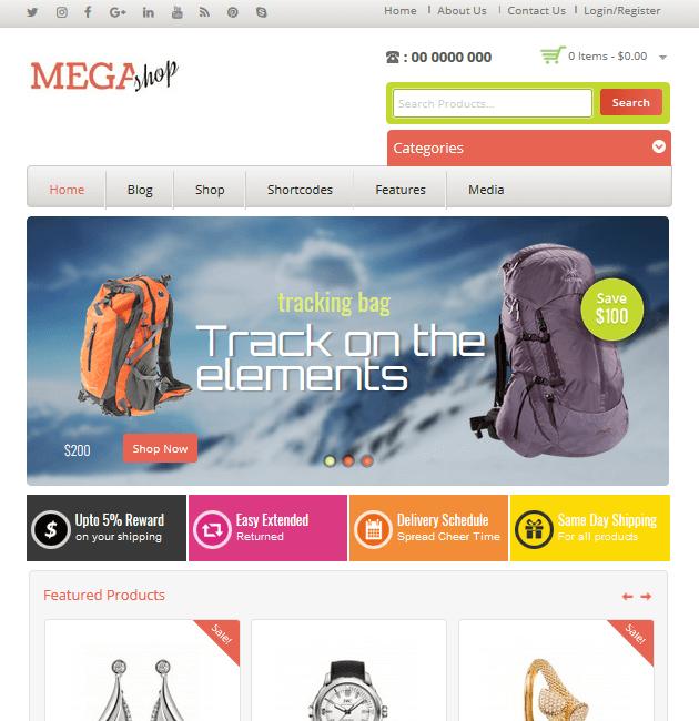 Mega Shop - eCommerce WordPress Themes