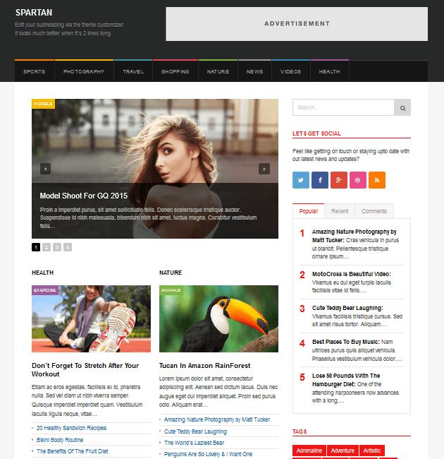 Spartan Magazine - Ad-Space WordPress Themes