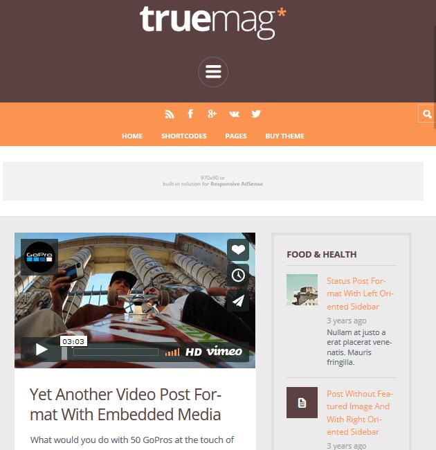 TrueMag - Ad-Space WordPress Themes