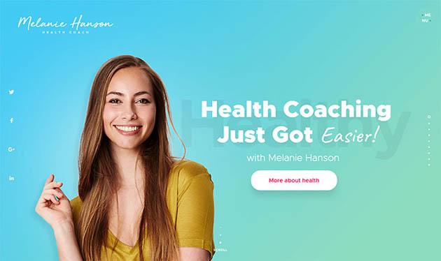 Health Coach Lifestyle Inspiration WordPress Theme