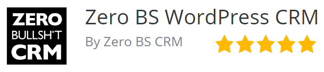 5 stars for ZBS CRM on WordPress.org
