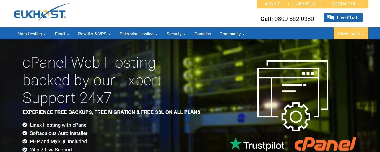eUKHost Best Website Hosting UK