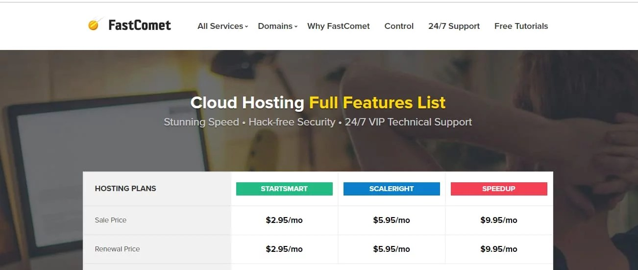 FastComet Cloud Hosting