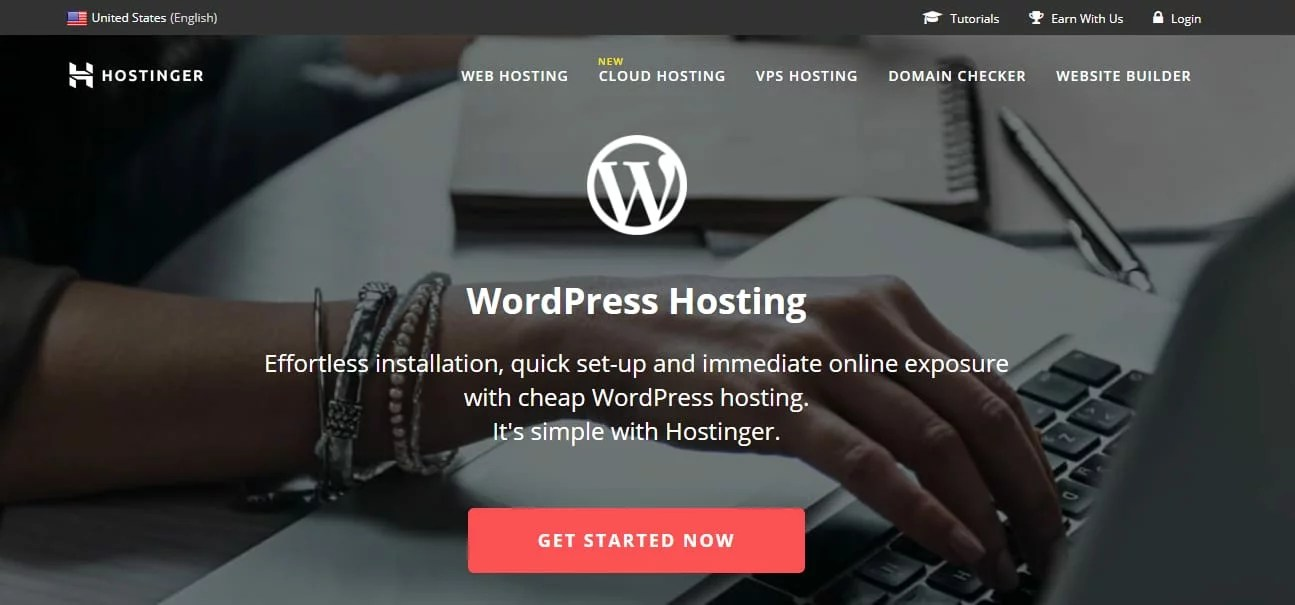 Hostinger mais barato wordpress hospedagem