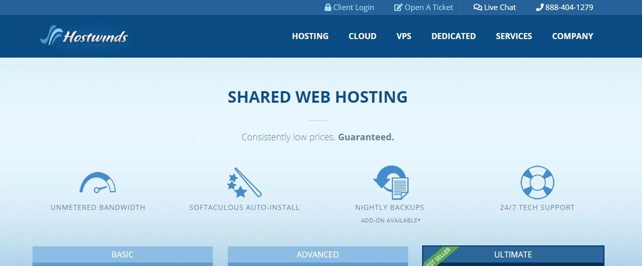 Hostwinds Cheapest Website Hosting USA