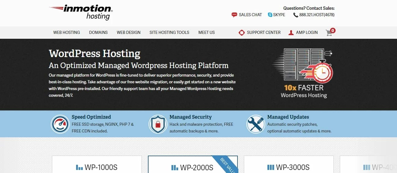 InmotionHosting wordpress