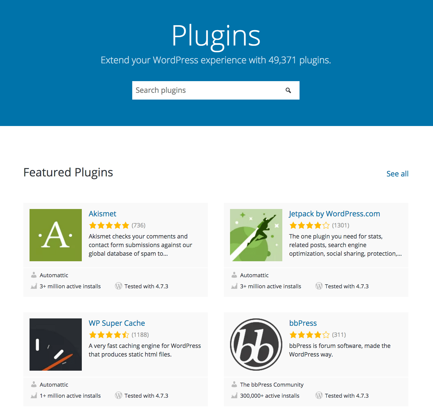 WordPress Plugin Directory – WordPress Relaunches Plugin Directory with New Design