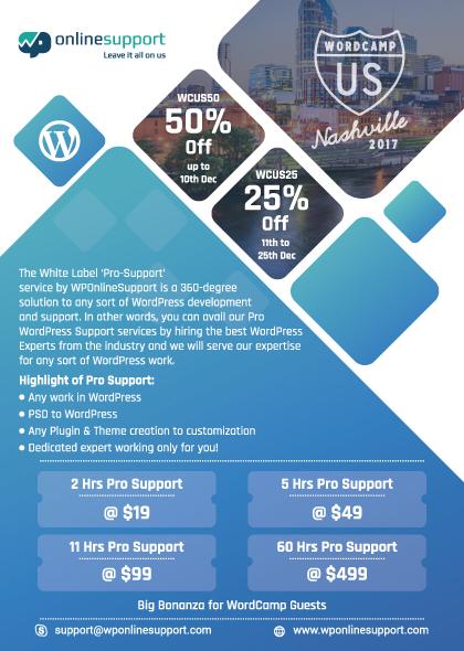 Big Bonanza for WordCamp Guests