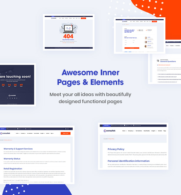 Consultek Multiple Inner Pages- Consulting Business WordPress Theme