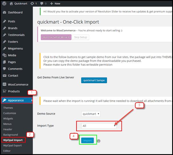 import data demo