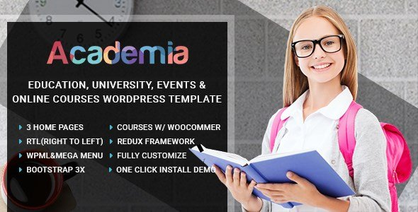 Academia - Education Center WordPress Theme
