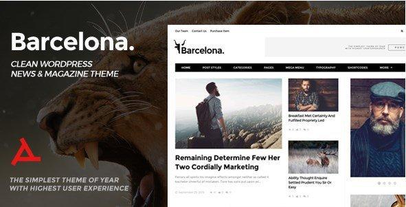 Barcelona - Clean News & Magazine WordPress Theme