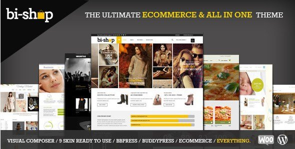 Bi-Shop All In One - Ecommerce & Corporate Theme