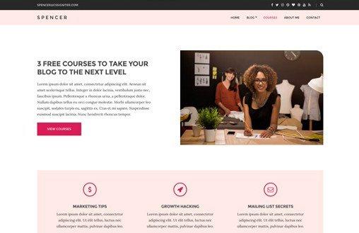 CSS Igniter Spencer WordPress Theme