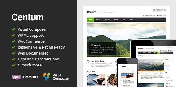 Centum - Responsive WordPress Theme