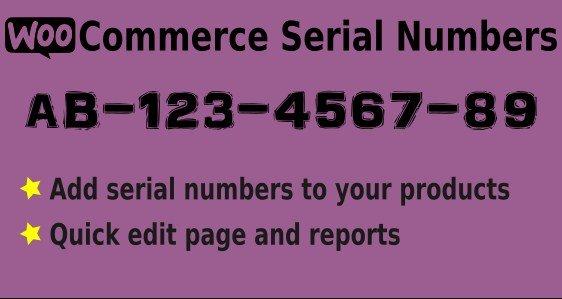 Easy Serial Numbers for WooCommerce - WordPress Plugin