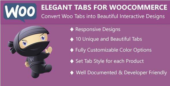 - Elegant Tabs for WooCommerce
