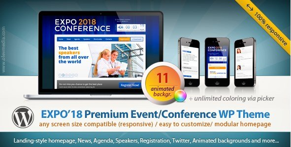 Expo18 - Responsive Event Conference WordPress Theme