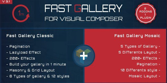 Fast Gallery for Visual Composer WordPress Plugin