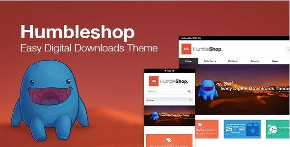 Humbleshop - Minimal Easy Digital Downloads Theme