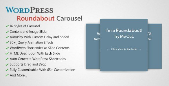 Roundabout - WordPress Carousel Slider Plugin