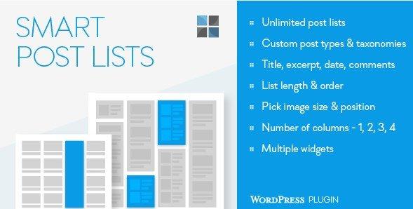 Smart Post Lists Widget for WordPress