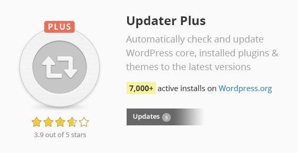 Updater Plus WordPress Plugin