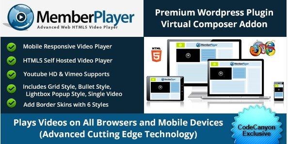 Visual Composer Addon : MemberPlayer HTML5 Video