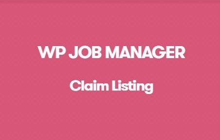 WP Job Manager Claim Listing Addon