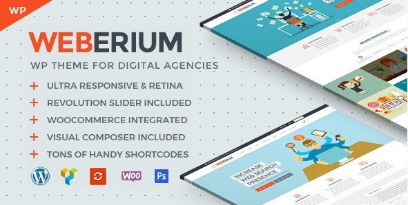 Weberium - Responsive WordPress Theme For Digital Agencies