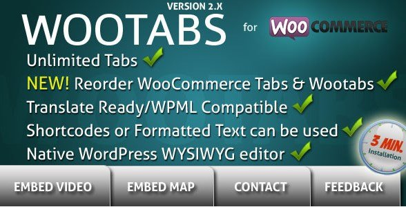 WooTabs - Add Extra Tabs To WooCommerce Product Page