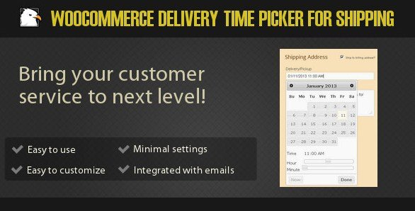 Woocommerce Delivery Time Picker for Shipping