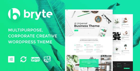 Bryte - Multipurpose Creative & Business Wordpress Theme
