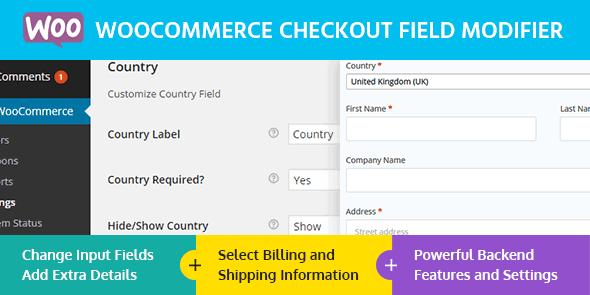 MyThemeShop WooCommerce Checkout Field Modifier