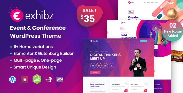 Exhibz - Event Conference WordPress Theme
