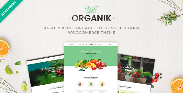 Organik - An Appealing Organic Store Farm & Bakery WooComerce theme
