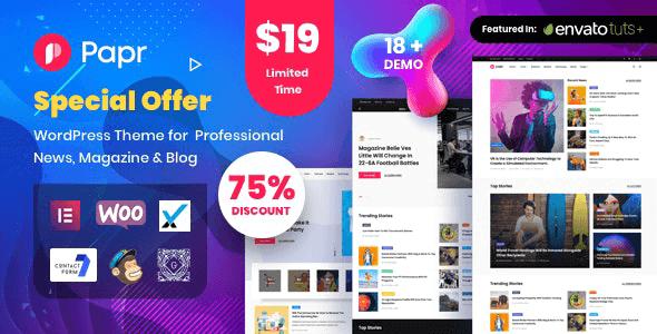 Papr - News Magazine WordPress Theme