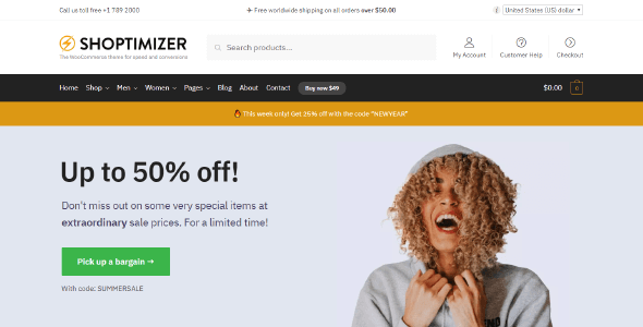 Shoptimizer - a FAST WooCommerce theme with a ton of features